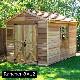 木製小屋 シダーシェッド社 ランチャー (8×12type) 約8.6平米 2.6坪 木製物置 ※要荷降ろし手伝い