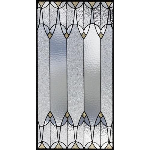 ステンドグラス (SH-A31) 913×480×18mm デザイン ピュアグラス 幾何学 Aサイズ (約13kg) メーカー在庫限り ※代引不可