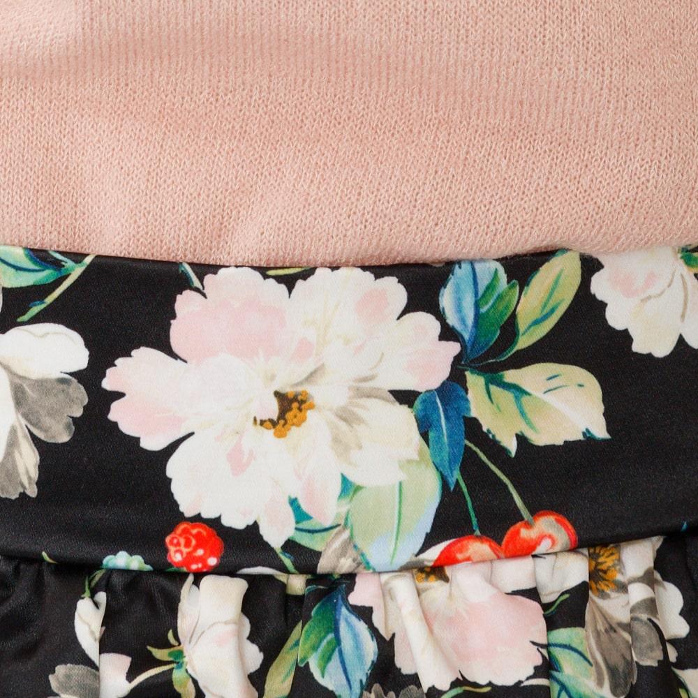 【大きいサイズ】花柄フレアギャザースカート(LL~5L)