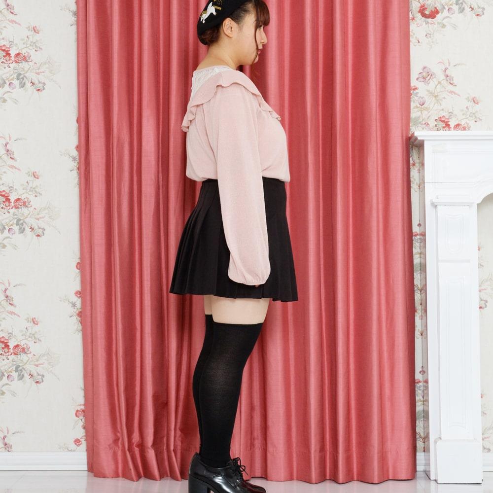 【大きいサイズ】プリーツミニスカート(スカパン付)(LL~5L)