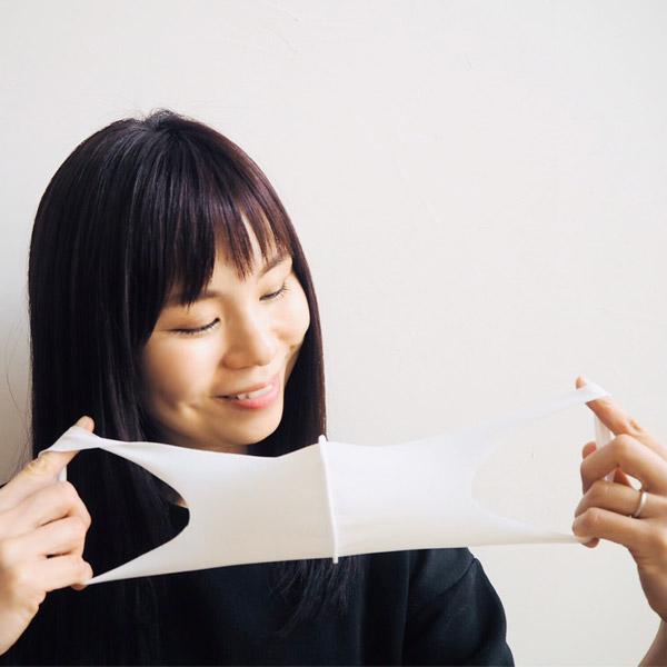 【冷感】洗えるクールUVフィットマスク(Lサイズ2枚組)【ベージュ】大人用