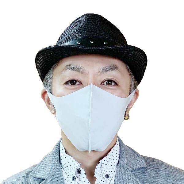 【冷感】洗えるクールUVフィットマスク(Lサイズ2枚組)【グレー】大人用