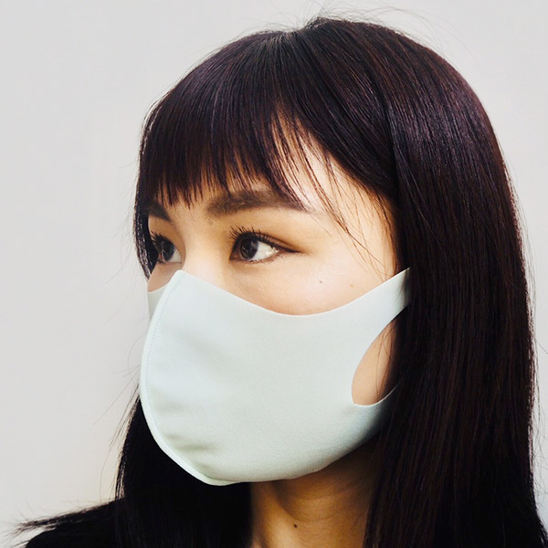【冷感】洗えるクールUVフィットマスク(Mサイズ2枚組)【オフホワイト】大人用