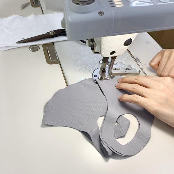【冷感】洗えるクールUVフィットマスク(Mサイズ2枚組)【ブラック】大人用