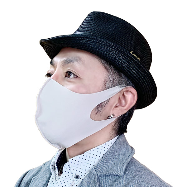 【保湿】洗えるシルキータッチマスク(Lサイズ:ホワイト2枚組)大人用