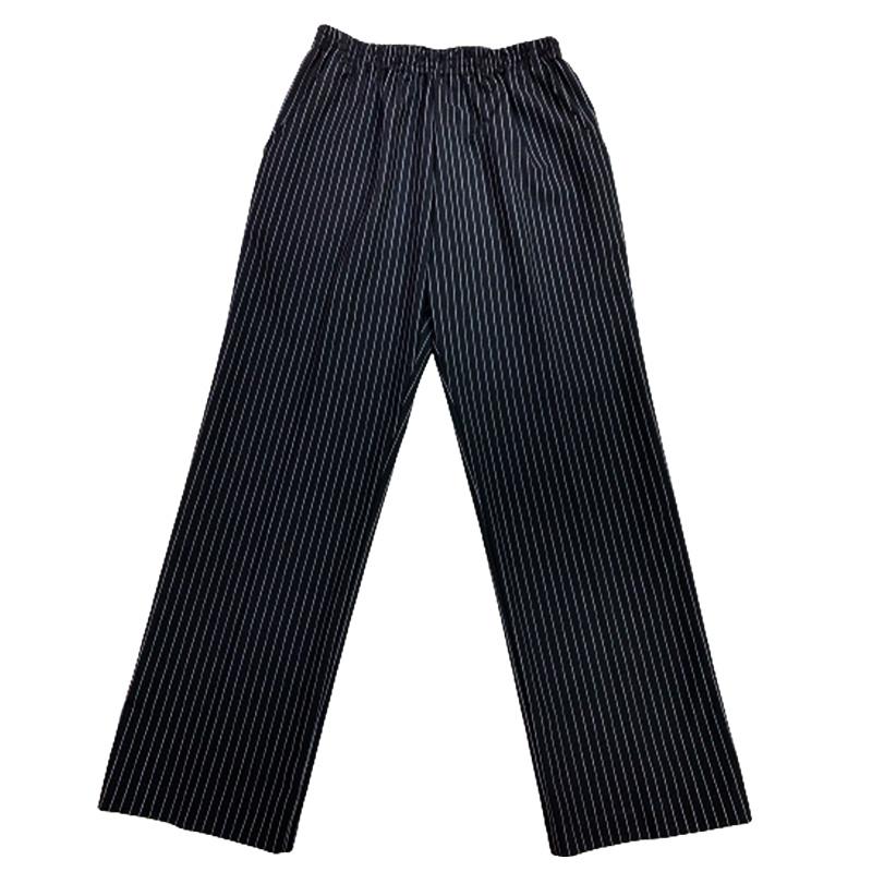 ★ストレートストライプパンツ【Mサイズ:ブラック】ウエスト64~70