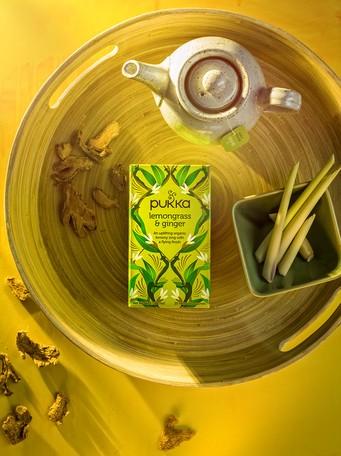 【パッカハーブス】レモングラス&ジンジャー 有機ハーブティー(カフェインフリー)【オーガニック】 紅茶