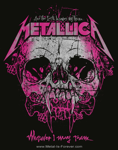 METALLICA -メタリカ- WHEREVER I MAY ROAM 「ホェアエヴァー・アイ・メイ・ロウム」  レディースTシャツ