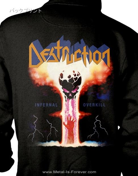 DESTRUCTION -デストラクション- INFERNAL OVERKILL 「インファーナル・オーヴァーキル」 ジップ・パーカー