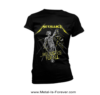 METALLICA -メタリカ- ...AND JUSTICE FOR ALL 「メタル・ジャスティス」 レディースTシャツ