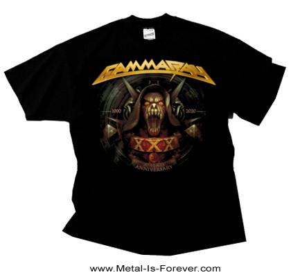 GAMMA RAY (ガンマ・レイ) 30 YEARS GOLDEN LOGO 「30周年記念・ゴールデン・ロゴ」 Tシャツ
