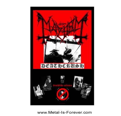 MAYHEM (メイヘム) DEATHCRUSH 「デスクラッシュ」 布製ポスター