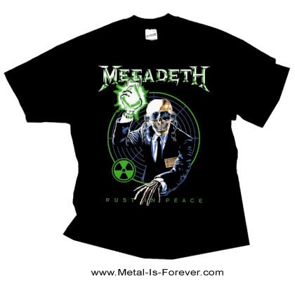 MEGADETH (メガデス) RUST IN PEACE 「ラスト・イン・ピース」 ヴィック・ラトルヘッド Tシャツ