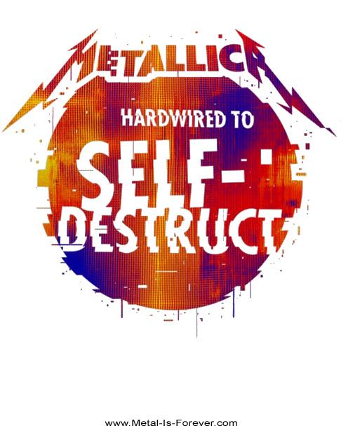 METALLICA -メタリカ- HARDWIRED...TO SELF-DESTRUCT 「ハードワイアード...トゥ・セルフディストラクト」 グリッチ・ボールレディースTシャツ(白)