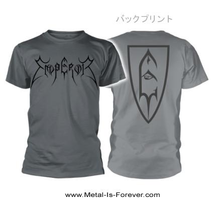 EMPEROR -エンペラー- LOGO SHIELD 「ロゴ・シールド」 Tシャツ(チャコール・グレー)