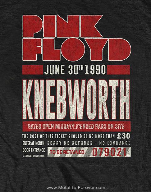 PINK FLOYD (ピンク・フロイド)  KNEBWORTH '90 「ネブワース '90」 レッド Tシャツ