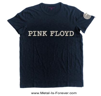 【お取り寄せ商品】PINK FLOYD -ピンク・フロイド- LOGO & PRISM 「ロゴ・アンド・プリズム」 Tシャツ(ネイビーブルー)