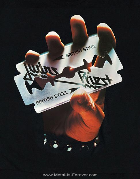 JUDAS PRIEST -ジューダス・プリースト- BRITISH STEEL 「ブリティッシュ・スティール」 カット レディースTシャツ