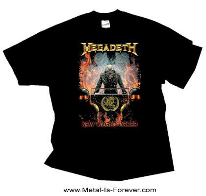 MEGADETH -メガデス- NEW WORLD ORDER 「ニュー・ワールド・オーダー」 Tシャツ