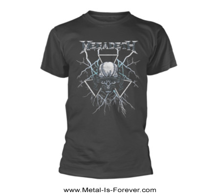 MEGADETH -メガデス- ELEC 「エレク・ヴィック」 Tシャツ(チャコールグレー)