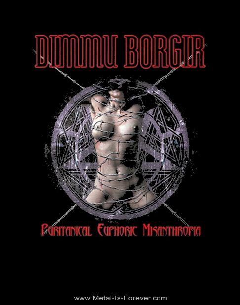 DIMMU BORGIR -ディム・ボルギル- PURITANICAL EUPHORIC MISANTHROPIA 「魔界大憲章」 Tシャツ