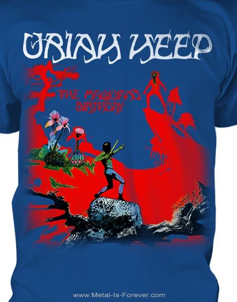 URIAH HEEP (ユーライア・ヒープ) THE MAGICIAN'S BIRTHDAY 「魔の饗宴」 Tシャツ(ブルー)