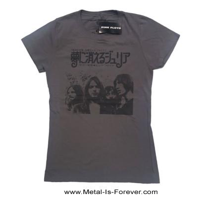 PINK FLOYD (ピンク・フロイド) JULIA DREAM 「夢に消えるジュリア」 レディースTシャツ(チャコール・グレー)