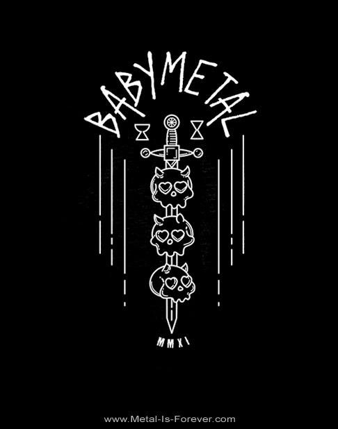 BABYMETAL -ベビーメタル- SKULL SWORD 「スカル・ソード」  Tシャツ