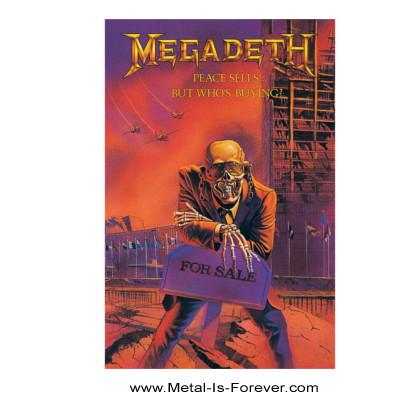 MEGADETH (メガデス) PEACE SELLS ...BUT WHO'S BUYING? 「ピース・セルズ...バット・フーズ・バイイング?」 布製ポスター