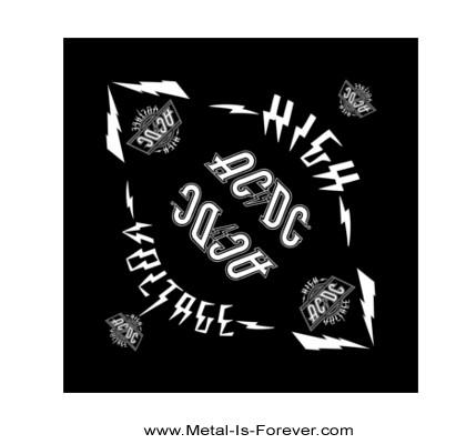 AC/DC (エーシー・ディーシー) HIGH VOLTAGE 「ハイ・ヴォルテージ」 バンダナ