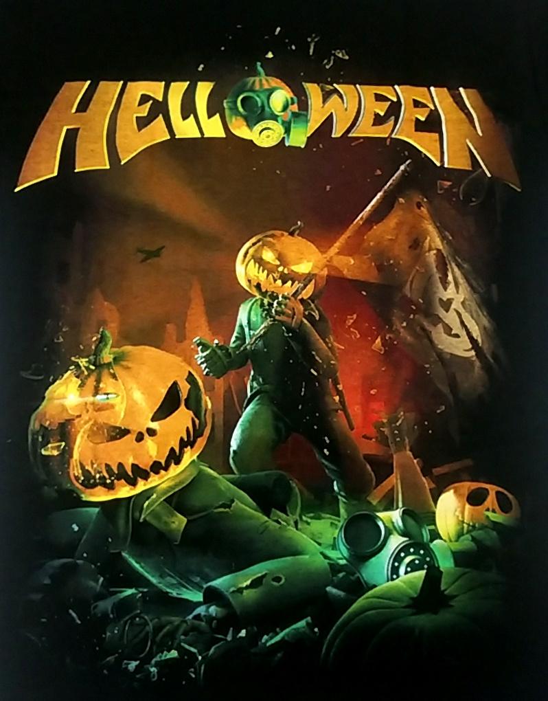 【在庫有り商品】HELLOWEEN -ハロウィン- STRAIGHT OUT OF HELL 「ストレイト・アウト・オブ・ヘル」 Tシャツ Sサイズ