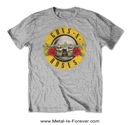GUNS N' ROSES (ガンズ・アンド・ローゼズ) CLASSIC LOGO 「クラシック・ロゴ」 キッズ Tシャツ(ヘザー・グレー)