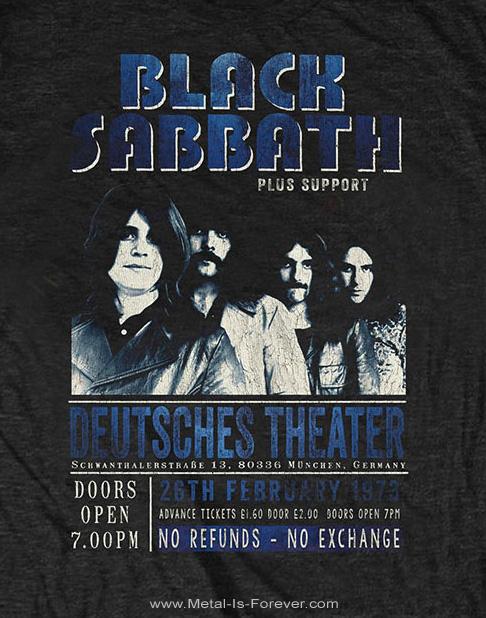BLACK SABBATH (ブラック・サバス) DEUTSCHES THEATER '73 「ドイツ座 '73」 エコTシャツ