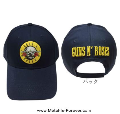 GUNS N' ROSES -ガンズ・アンド・ローゼズ- CIRCLE LOGO 「サークル・ロゴ」 ベースボールキャップ(ネイビー・ブルー)