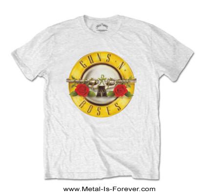 GUNS N' ROSES (ガンズ・アンド・ローゼズ) CLASSIC LOGO 「クラシック・ロゴ」 キッズ Tシャツ(白)