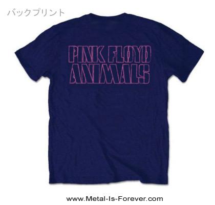PINK FLOYD (ピンク・フロイド) AWBDG 「ピッグ」 Tシャツ (ネイビー・ブルー)