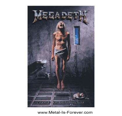 MEGADETH (メガデス) COUNTDOWN TO EXTINCTION 「破滅へのカウントダウン」 布製ポスター