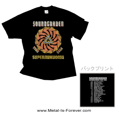SOUNDGARDEN (サウンドガーデン) SUPERUNKNOWN 「スーパーアンノウン」 1994年ツアー Tシャツ