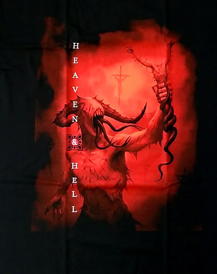 【在庫有り商品】HEAVEN AND HELL -ヘヴン・アンド・ヘル- THE DEVIL YOU KNOW 「ザ・デヴィル・ユー・ノウ」 Tシャツ Mサイズ【コレクターズアイテム】