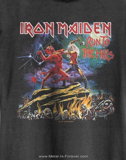 IRON MAIDEN -アイアン・メイデン- RUN TO THE HILLS 「誇り高き戦い」 Amplified Tシャツ