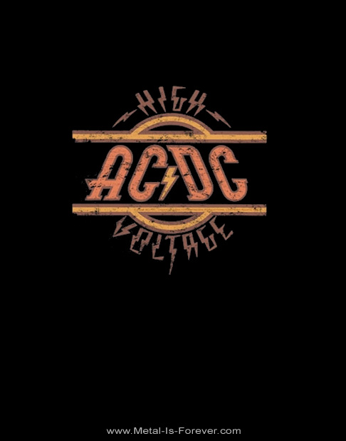 AC/DC (エーシー・ディーシー) HIGH VOLTAGE 「ハイ・ヴォルテージ」 ロゴ Tシャツ