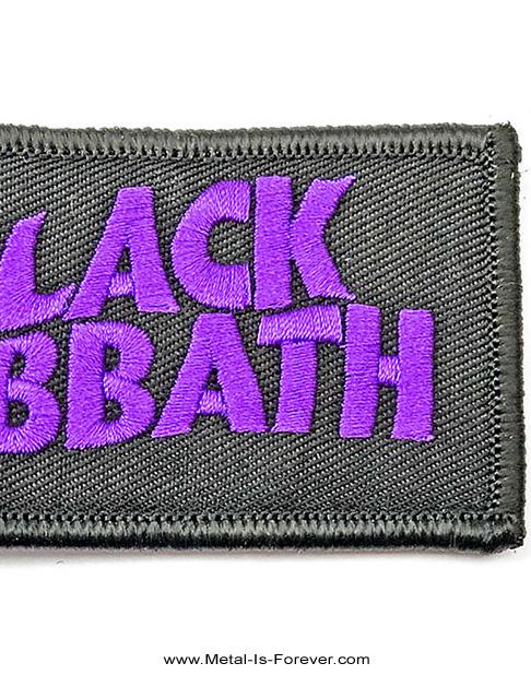 BLACK SABBATH (ブラック・サバス) WAVY LOGO 「ウェービー・ロゴ」 ワッペン・キーチェーン