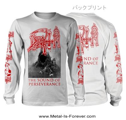 DEATH -デス- THE SOUND OF PERSEVERANCE 「ザ・サウンド・オブ・パーサヴィランス」 長袖Tシャツ(ヴィンテージ・ウォッシュ/白)