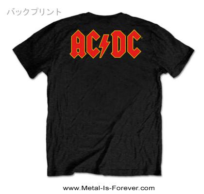 AC/DC -エーシー・ディーシー- LOGO 「ロゴ」  Tシャツ(バックプリント)