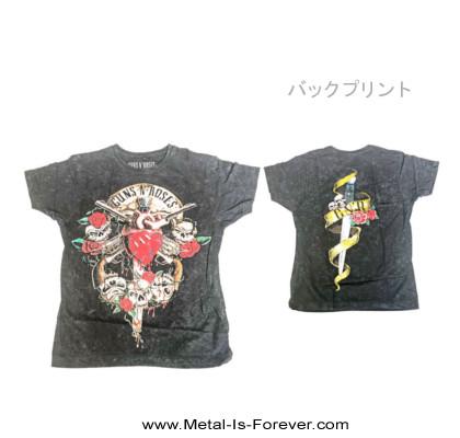 GUNS N' ROSES -ガンズ・アンド・ローゼズ- BLEEDING HEART DISTRESSED 「ブリーディング・ハート・ディストレス」 絞り染めTシャツ(Sサイズのみ)