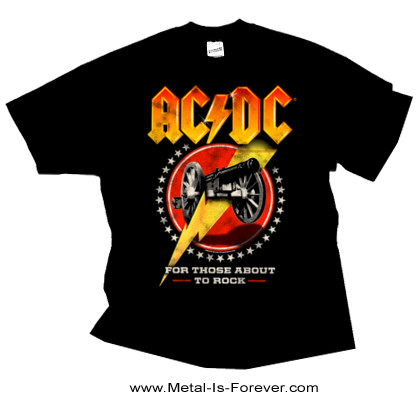 AC/DC (エーシー・ディーシー) FOR THOSE ABOUT TO ROCK (WE SALUTE YOU) 「悪魔の招待状」 Tシャツ