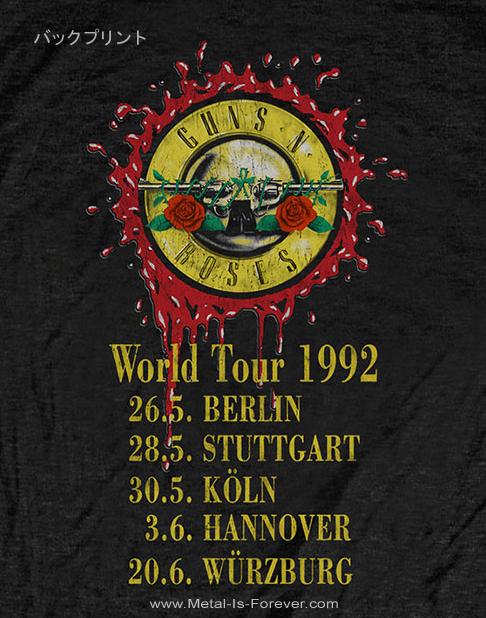 GUNS N' ROSES (ガンズ・アンド・ローゼズ) USE YOUR ILLUSION 「ユーズ・ユア・イリュージョン」 1992年ワールド・ツアー Tシャツ