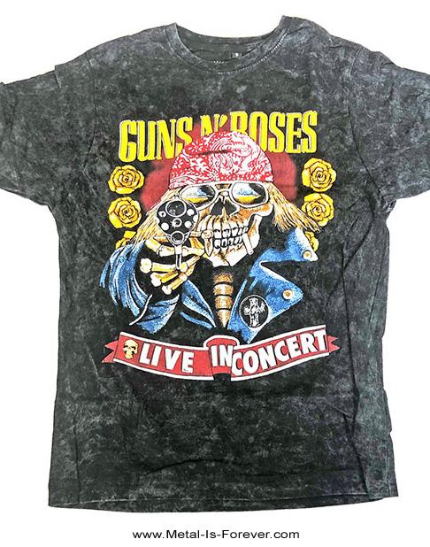 GUNS N' ROSES -ガンズ・アンド・ローゼズ- BOOTLEG SKULL DISTRESSED 「ブートレグ・スカル・ディストレス」 絞り染めTシャツ(Sサイズのみ)