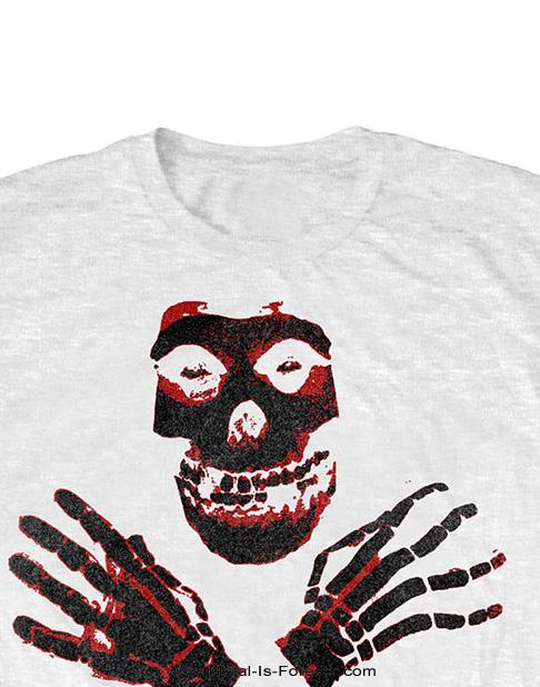 MISFITS (ミスフィッツ) HANDS SKULL 「ハンズ・スカル」 キッズ Tシャツ(白)