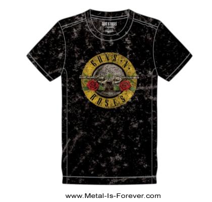 GUNS N' ROSES (ガンズ・アンド・ローゼズ) CLASSIC LOGO 「クラシック・ロゴ」 スノーウォッシュ Tシャツ